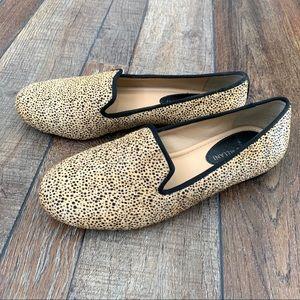 Antonio Melani 'Gigi' leopard print calf hair flat